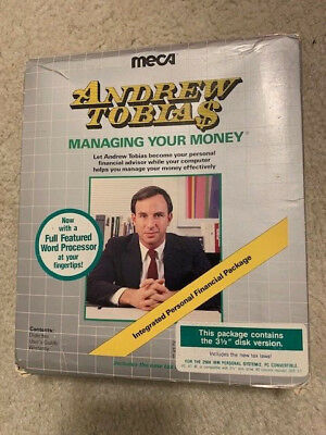 Andrew Tobias Managing Your Money Vintage Computer Software IBM Original package