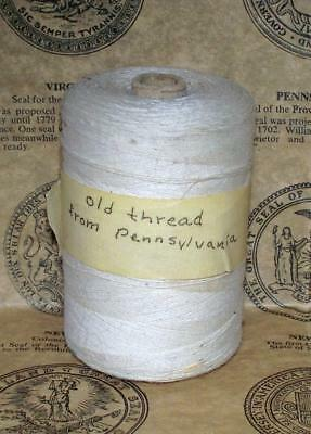 Antique Flax Sinew(?) Thread Large Spool from Kit Carson Auction Las Animas Colo