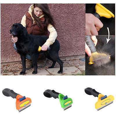 Pet Grooming Brush Comb Professional Short Hair Deshedding Tool For Dogs Cat