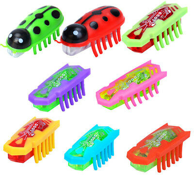 Battery powered fast moving micro robotic bug toy entertaining pets cat toys .A