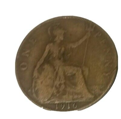 1916 One Penny Coin