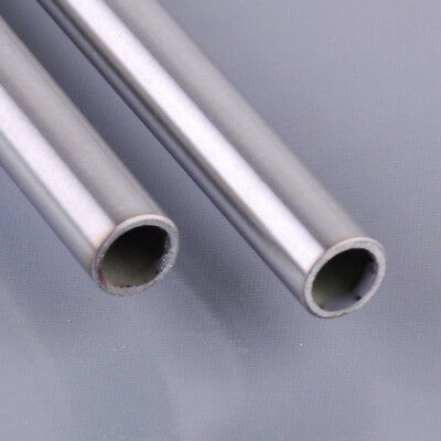 2x Silver Stainless Steel Capillary Tube Pipe OD 10mm ID 8mm Length 0.5M 500mm
