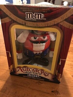 M&M's Nutcracker Sweet Limited Edition Red Candy Dispenser In Box