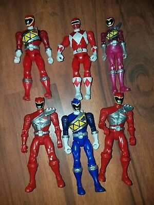 lot of 6 loose power rangers imaginext figures with weapons green