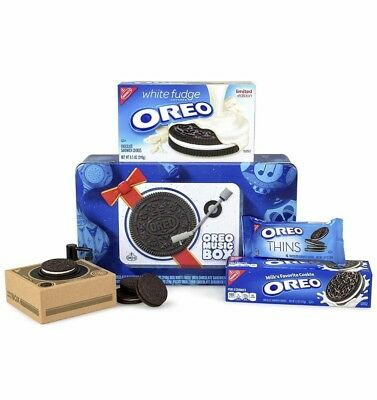 New OREO MUSIC BOX Cookie Record Player in Collectible Gift Tin - Ready to Ship!