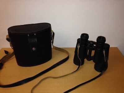 Russian USSR BNU 7x50 military vintage binoculars with original leather case