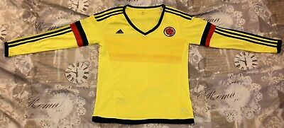 91f18ff8a Adidas Colombia Climacool National Team Soccer Jersey Womens XL Long Sleeve  1 of 6FREE Shipping ...