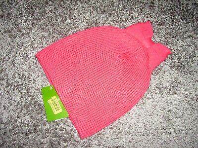ddc478a7252 NEW  48 Kate Spade New York Solid Bow Costume Pink Hat Beanie