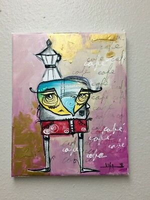 """PAINTING ORIGINAL ACRYLIC AND PASTELS ON CANVAS CUBAN ART  8""""X10"""" By LISA."""
