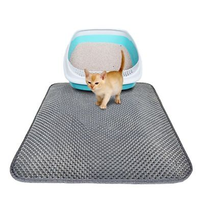Pet Cat litter Mat Double Layer Pad Flexible Trapping for litter Box Pad Gray AU