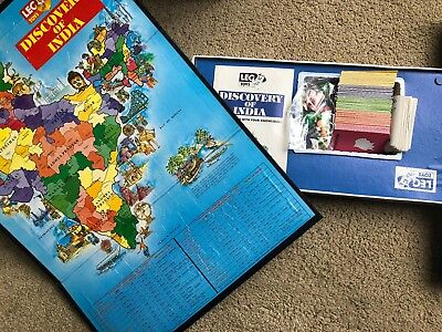 Leo Toys Vintage Board Game Discovery of India