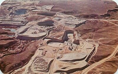 Wyoming, Gas Hills District, Open Pit Mine, Aerial View, Dexter No. 68633-B