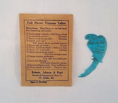 Vintage Rare Advertising Poll Parrot Fortune Teller Game / Toy Made in Germany