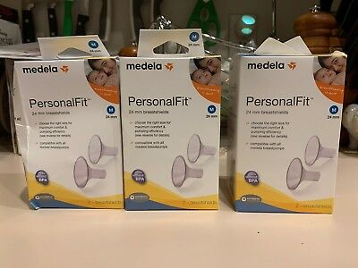 Brand new! 3x Medela PersonalFit 24 mm Breastshields (Medium) 6-Breastshields