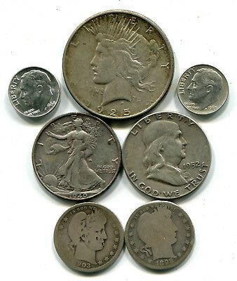 Lot of seven 90% silver US coins!  #15