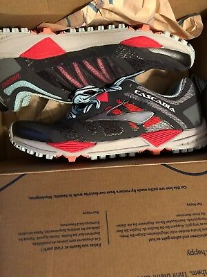 7687e4dbd35 Brooks Women s Cascadia 11 Shoes Mesh Cushioned Trail Running Athletic Size  7 B