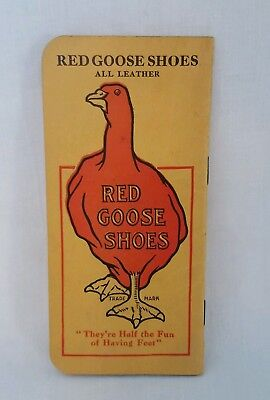 Vintage Advertising Red Goose Shoes Memo Notebook Friedman Shelby Shoe Company