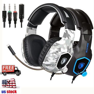 SADES SA-818 Gaming Headsets for PS4 Xbox One PC Stereo Surround Headphone w/Mic