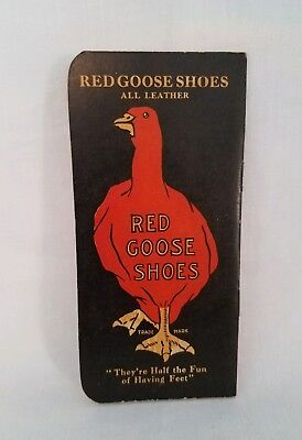 Vintage Red Goose Shoes Advertising Memo Notebook Friedman Shelby Shoe Company