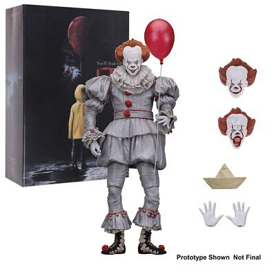 "7"" Stephen King's It Pennywise Clown Joker Hand Action Figure Figurines Toy Gift"