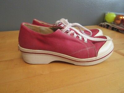 DANSKO Vegan  Red  Canvas Women's Mary Janes Shoes Size 38/US size 7.5-8