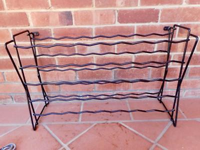 Vintage 38 Wine Bottle Wine Rack Stand Iron Framed & Wall Mountable Red White