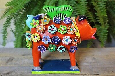 When Pigs Fly! Hand Made Ideal for Childs room! Mexican folk art Ortega Pottery