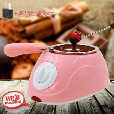 Hot Chocolate Melting Pot Electric Fondue Melter Machine Set DIY Tool NEW GKR