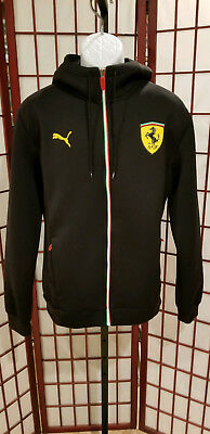 1092438e4625 PUMA SPORT LIFESTYLE Zip Up Track Jacket Size Large Black Red ...