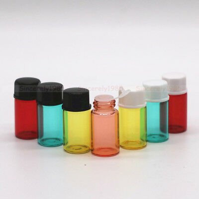 Glass Dram Bottles 1ml 2ml 3ml Sample Vials Orifice Reducer for Essential Oils