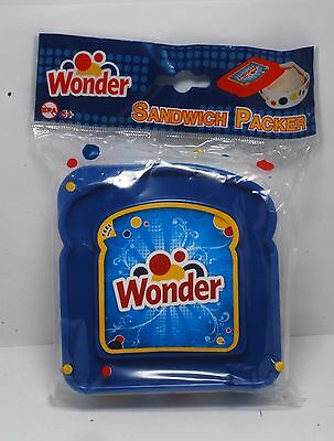 Wonder Bread Sandwich Blue Packer School Lunch Snack Travel Container  BPA Free