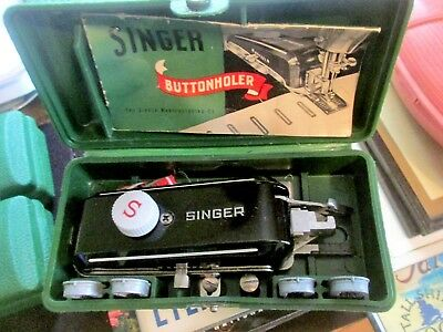 Singer Sewing Machine Buttonholer W654321N With 4 Templates