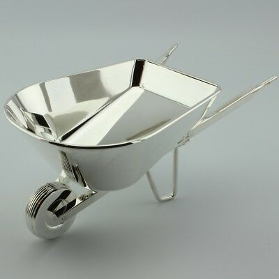 Wheelbarrow Silver Plated Salad Bowl Holiday Serving Dish by Godinger