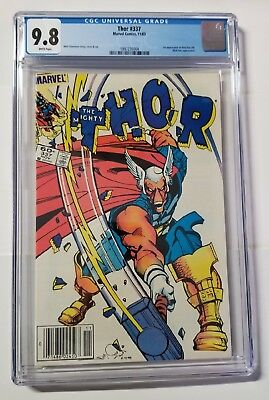 Thor #337 - CGC 9.8 - White Pages - Newsstand - 1st Beta Ray Bill - New