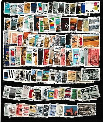 #1454=Used mix of 100 different Canada stamps