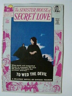 1972 Sinister House of Secret Love #2 DC Romance/Horror Comics 52 Pages VG