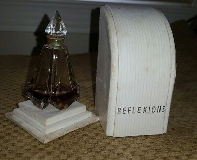 rare ciro reflexions perfume vintage baccarat style glass bottle with box 1933