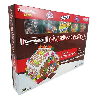 Tootsie Roll- Deluxe Christmas Gingerbread House Kit Make A Treat For Christmas