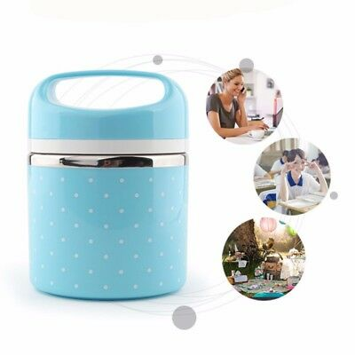 Stainless Steel Portable Food Bento Storage Container Insulated Thermal LunchBox
