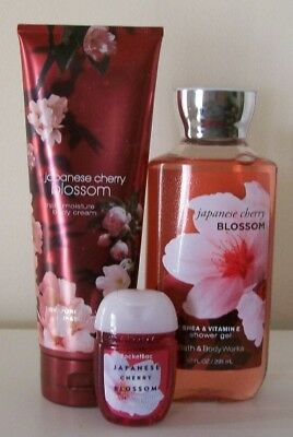Bath & Body Works Japanese Cherry Blossom Body Care Set ~ Great Floral Scent