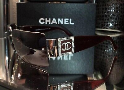 Vintage Chanel Sunglasses 4095-B Ruby Red Eyeglasses Frames VERY RARE! SOLD OUT!