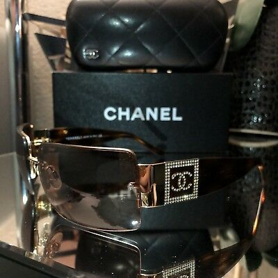 Vintage Chanel Sunglasses 4095-B Brown Gold Eyeglasses Frames VERY RARE SOLD OUT