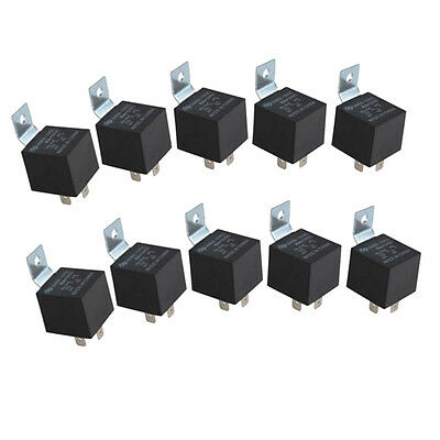 10PC Automotive Relay 12V Change Over 30A N/O 40A N/C 5 Pin Resistor Protected