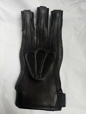 American Leathers Big Shot Archery Shooting Glove Buffalo Leather BLACK