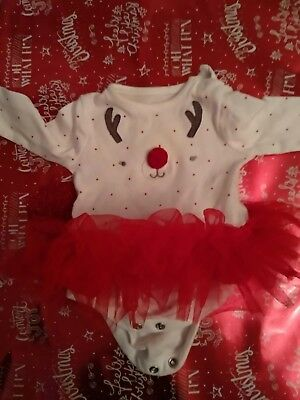 Mothercare Baby Christmas girl's Outfit long sleeved