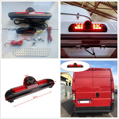 Rear Brake Reverse Camera Brake Light Night Vision 170° For Fiat Ducato Citroen