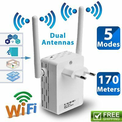300Mbps Wireless-N Extender WiFi Repeater Signal Booster Network Router LOT UQ~#