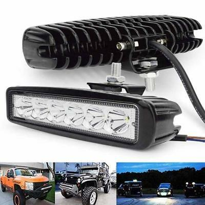 18W/800LM Bright Light Spot 6LED Work Bar Driving Fog Offroad Car Lamps