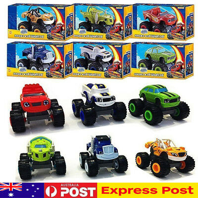 6Pcs Blaze and the Monster Machines Vehicles Diecast Toy Racer Cars Truck Kid AU