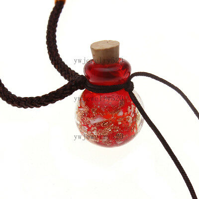 HOT fashion Oil Perfume Bottle Vial red pendant Necklace Fragrance Diffuser NEW